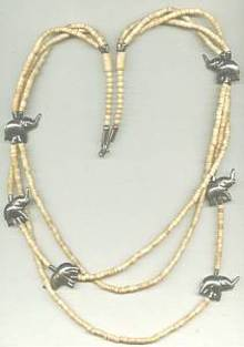 Necklace/Ethnic/Shell & ST Elephants