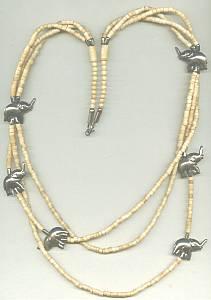 Necklace/Ethnic/Shell & ST Elephants