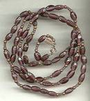 Necklace/Designer Begere' Purple Glass Beads