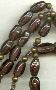 Necklace/Designer Begere' Purple Glass Beads