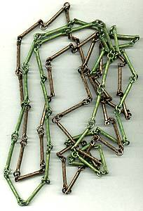Necklaces(2)/Bronze and Green Link Necklaces