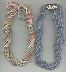 Necklace/8-Dyed Natural Beads Necklaces