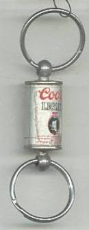 Advertising/Double Key Ring/Coors Light  Beer Can