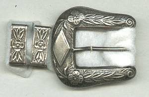 Belt Buckle Set/3-Piece Sterling