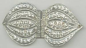 Belt Buckle/Stamped Retro-Deco Style