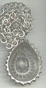 Necklace/1960's-1970's Retro Pewter Like Molded Pendent