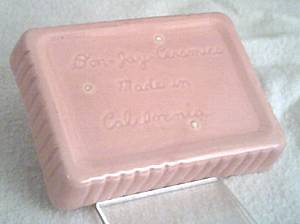 Ceramic/Pottery/Small Pink Rectangle Dish/Shallow/Don Jay Ceramics/Made In California