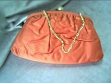 Purse/Stylemark by Mutterperl/Clutch/Orange-Red/Satinlike Fabric