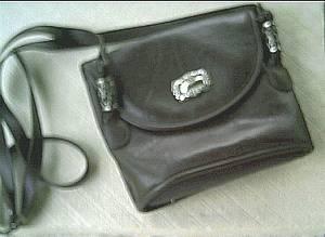 Purse/Koltov/Brown Leather Shoulder
