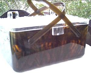 Purse/Plastic/Lucite/Faux Tortise Shell/Box