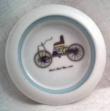 Ceramic/Pottery/Coaster With Transfer Decoration of