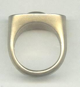Ring/Man's/Goldtone/Egyptian Motif/Bronze?