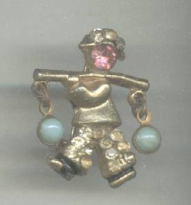 Brooch/Pin/Small Chinse Water Boy Figural