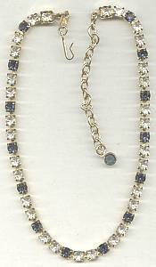 Necklace/Designer Trafari The Real look Clear&Saphire Rhinestone