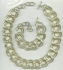 Set(s)Large GT Link Necklace & Bracelet W/Toggle Clasps
