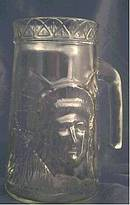 Glass/1986 Lady Liberty-Keep The Torch Lite  Mug/Anchor Glass Container Corp.