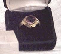 Ring/C.1895 ?Gold W/Large ?Amethyst