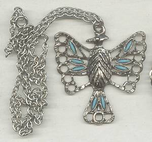 Necklace/3-Different Southwest Style/Cross/Thunderbird/Sunburst