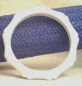 Bracelet/Bangle/Bamboo Shaped Motif/Bright White