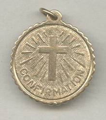 Religious/Confirmation Charm/1/20 12KT GF Made By Leavins Manufactureing Co.