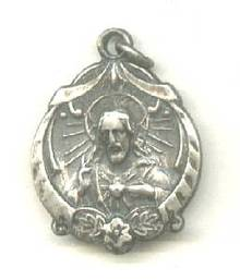 Religious/ Christ & Modona&Child Sterling Charm