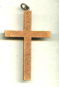 Religious/ Gold Topped Cross W/S.&C. Initials