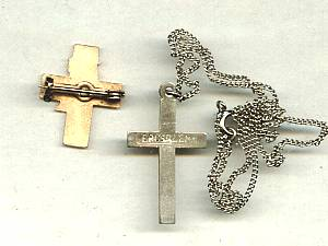 Religious/Tourist Souvenirs/Cross Pin W/Dove & Jeruselum Cross