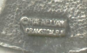 Necklace/Designer/RAFAELIAN Cranston,RI/Pewtwe Color Metal Wreth W?Liberty Bell