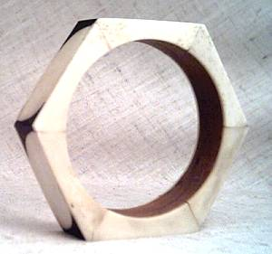 Bracelet/Bangle/Octogon/Made from Wood and ?Horn