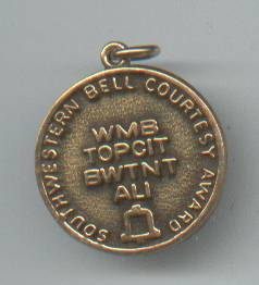 Service Charm/Award/Southwestern Bell Courtesy