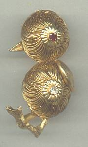 Brooch/Designer/Kramer of New York/Whimsical