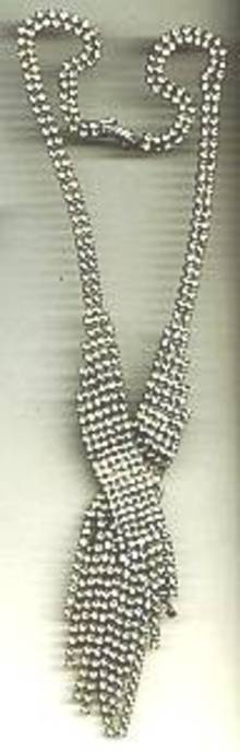Necklace/C.1930's -1940's Clear Crystal