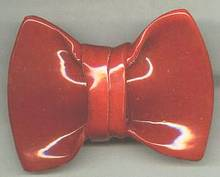 Scarf Slide/Handmade Ceramic/Large Red Bow