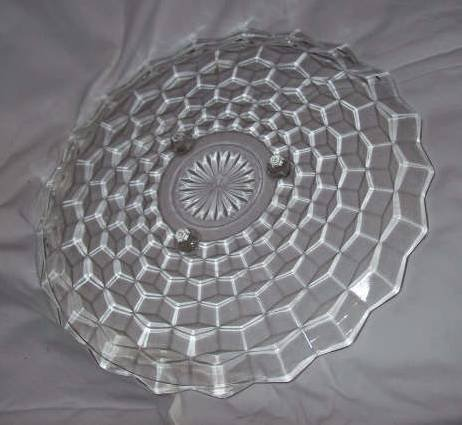 Glass/Cake Plate/American Whitehall by Indiana Glass Co.