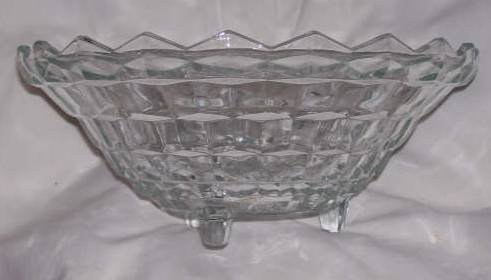 Glass/Large Serving Bowl/American Whitehall by Indiana Glass Co.