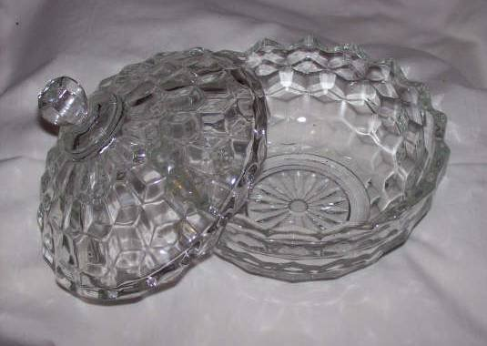 Glass/Covered Candy Dish/American Whitehall by Indiana Glass Co.
