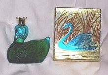 Avon/MIB Royal Swan Unforgetable Cologne Decanter