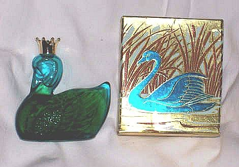 Avon/MIB Royal Swan Unforgetable Cologne Decanter