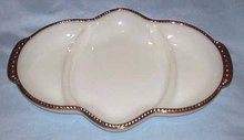 Glass/Fire King Ware/Relish Tray