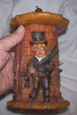 Candle/Sculptured German Chimney Sweep Candle