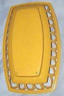 Kitchenware/Burger Basket/Yellow Plastic