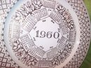 Porcelain/Ceramic 1960 Calender Plate