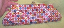 Vintage Designer Handbag/Button Covered Clutch