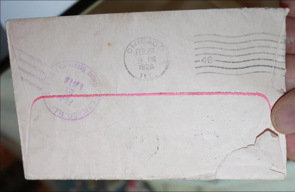 Lindbergh Horseshoe 2/20/28 Postal Cover envelope