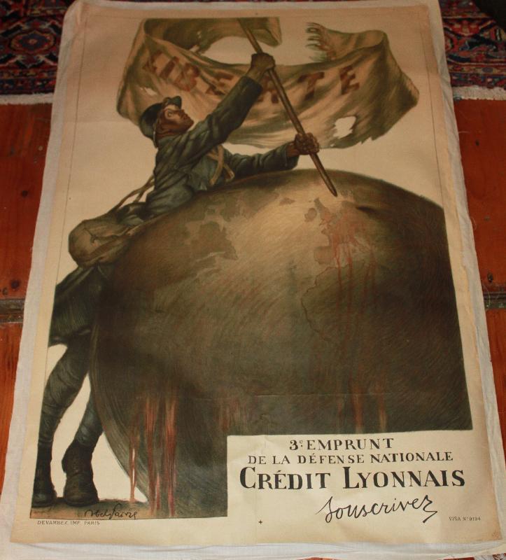 Credit Lyonnais WWI Liberte Poster 3rd Fund