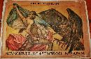 Emprint National Credit Lyonnais Fourth Bond WWI Poster 1917 man fighting an eagle