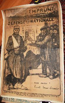 WWI 1915 Poster French Emprunt Defense Nationale Jules Adler artist