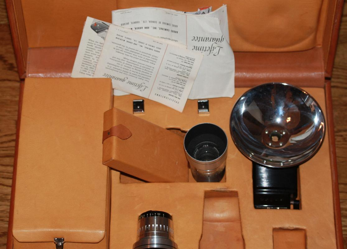 Argus C-Forty-Four Camera with special accesories in a California Coach Leather attache case