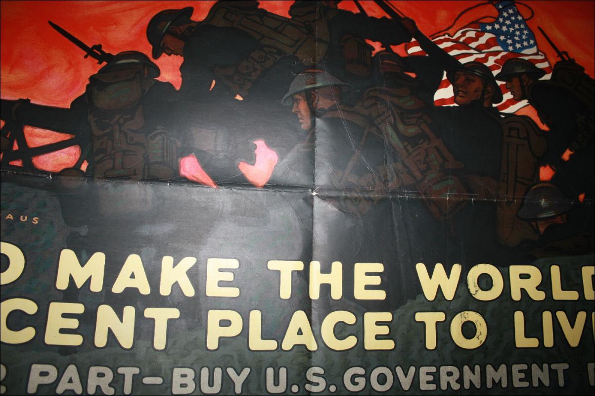 Paus WWI Liberty Loan Poster USA