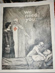 WWI Red Cross Nurse Poster Steiner